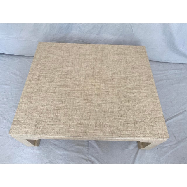 Grasscloth Wrapped Ming Style Coffee Table For Sale - Image 4 of 11