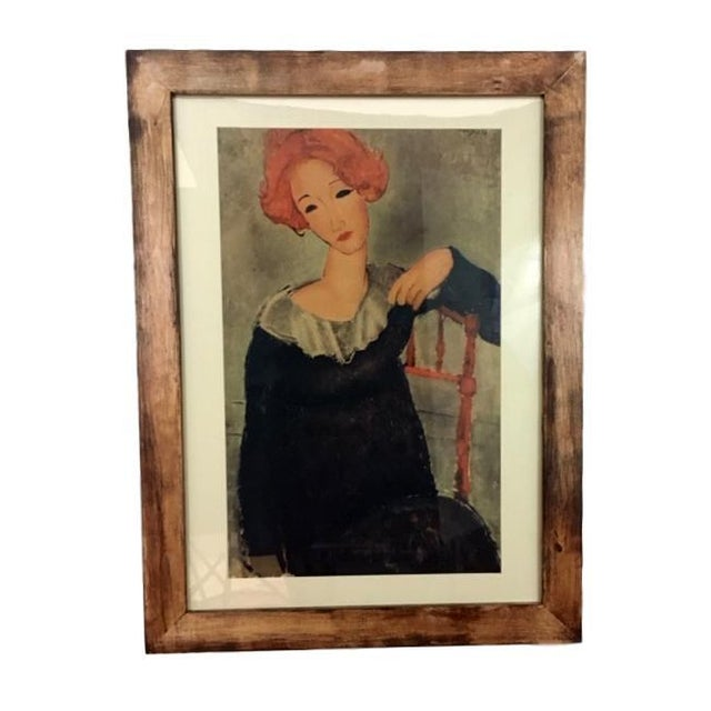 "Figurative Expressionist Print of Modigliani's ""Woman With Red Hair"" For Sale - Image 3 of 3"