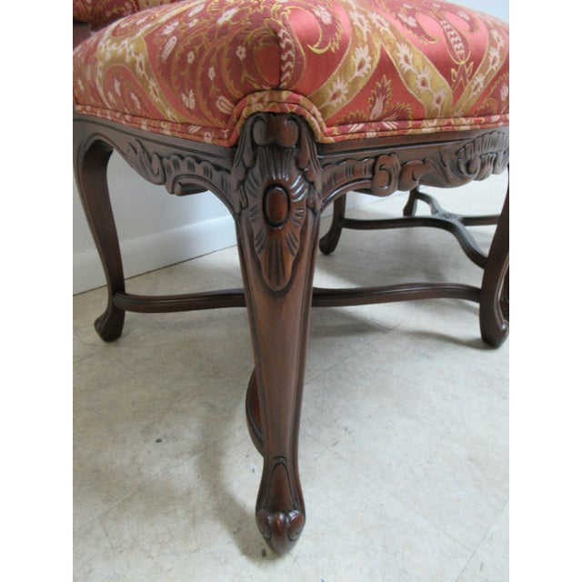 Walnut Fremarc Designs Country French Walnut Dining Chairs - a Pair For Sale - Image 7 of 12
