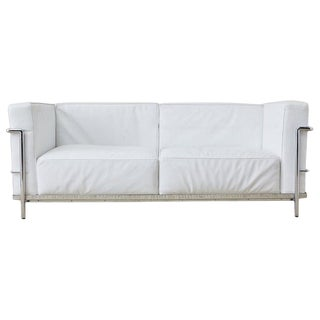 Le Corbusier Lc3 Style Two-Seat Sofa by Mobelaris For Sale