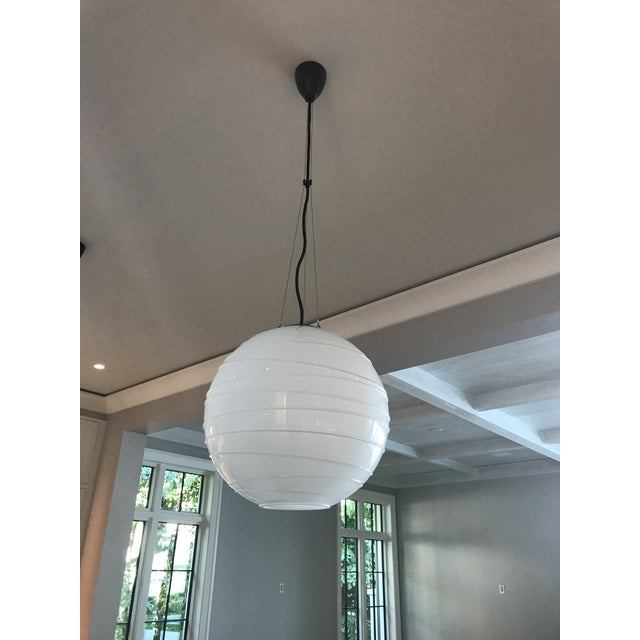 This is a Visual Comfort Hailey Medium Round Pendant by Alexa Hampton. They are newly installed. Box is not available but...