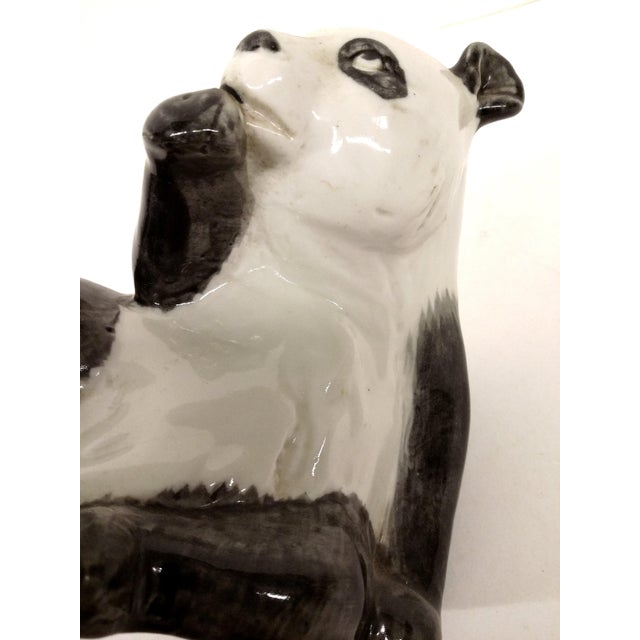 Ceramic Antique Porcelain Panda Bear For Sale - Image 7 of 7