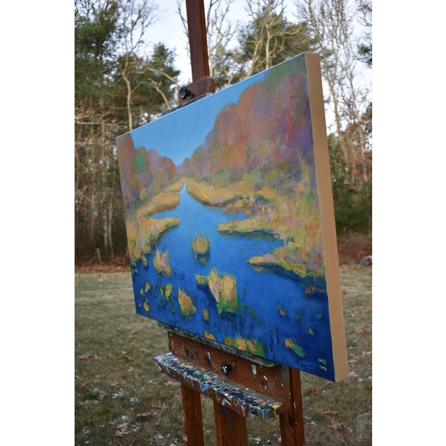 "Stephen Remick ""Autumn at the Marsh"" Contemporary Landscape Painting For Sale - Image 10 of 13"