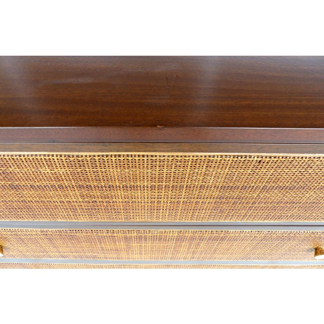 Harvey Probber Woven Cane Front Dresser For Sale - Image 11 of 11