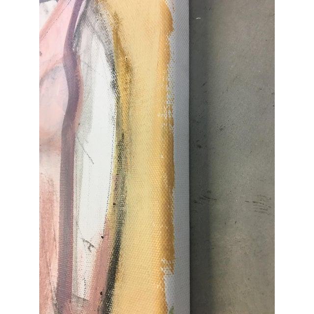 Heidi Lanino Seated Woman Yellow Painting by Heidi Lanino For Sale - Image 4 of 4