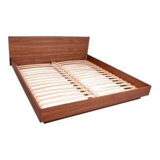 Danish Modern Teak King Platform Bed For Sale