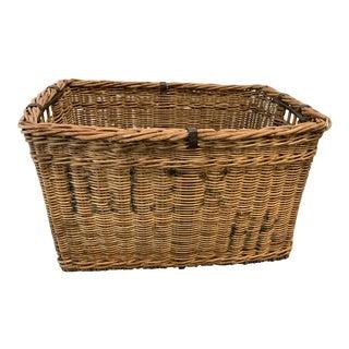 Vintage Mid Century Basket For Sale