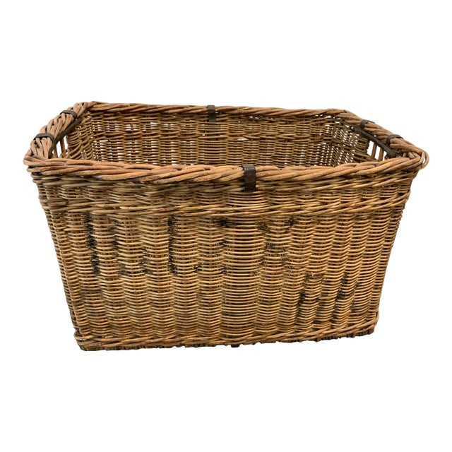 Vintage Mid Century Basket For Sale