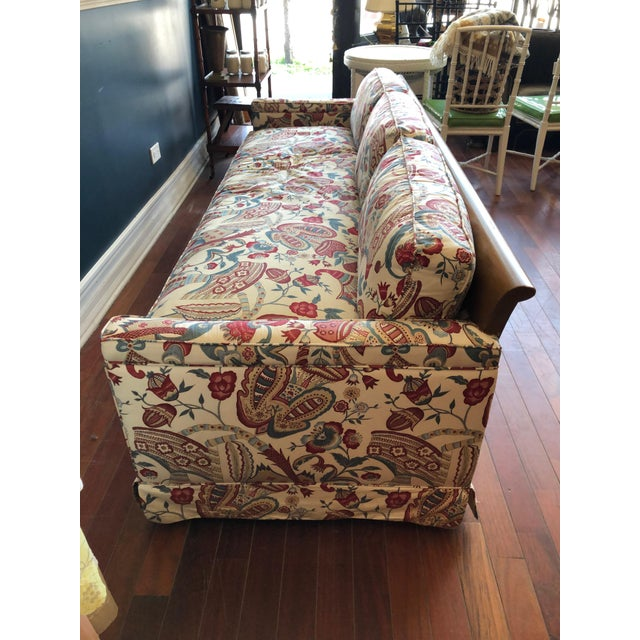 Cottage Vintage 1970s Down Sofa in Fabulous Print Upholstery For Sale - Image 3 of 13