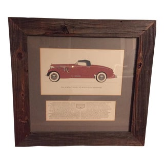 Vintage Framed 1936 Auburn Model 851 Speedster Car Print For Sale