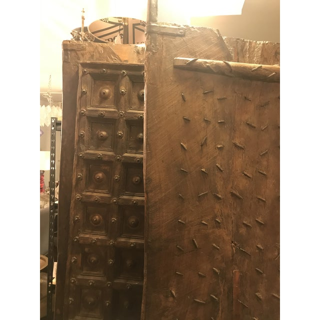 Metal Original Antique Salvaged Hand-Made Indian Doors For Sale - Image 7 of 11