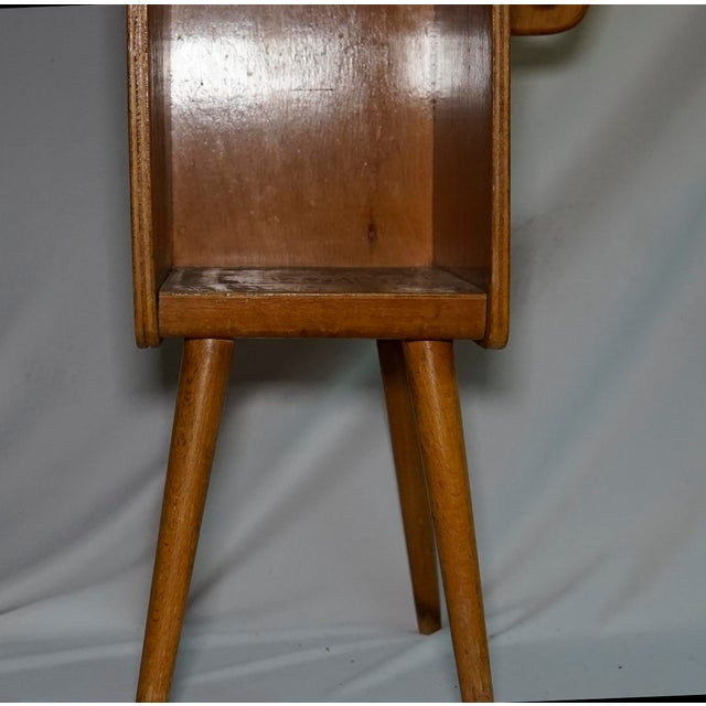 Pleasing Danish Midcentury Modern Nevco Telephone Book Side Table Onthecornerstone Fun Painted Chair Ideas Images Onthecornerstoneorg