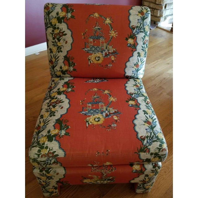 Orange Vintage Chinoiserie Accent Chairs - A Pair For Sale - Image 8 of 11