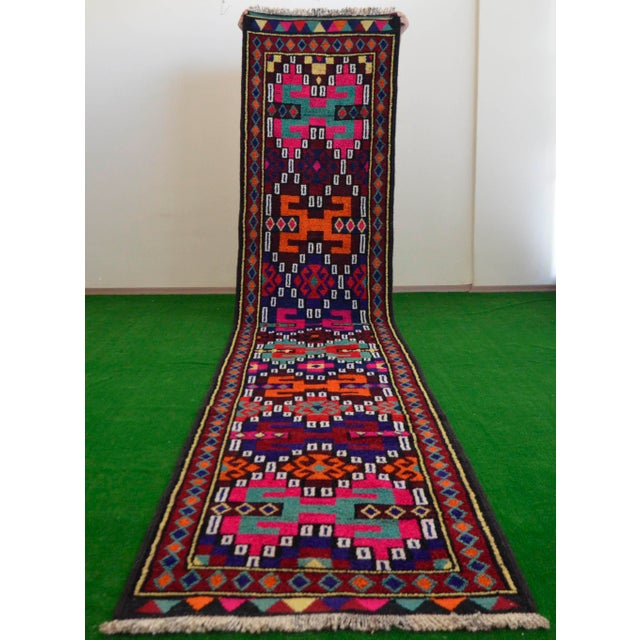 Long Runner Kurdish Hand-Knotted Rug - 2′9″ × 15′5″ - Image 2 of 10