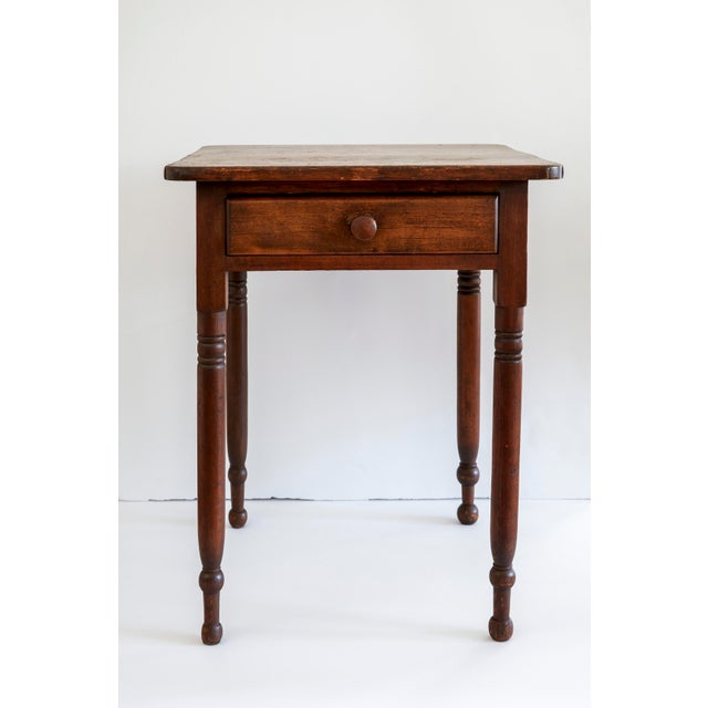 19th Century Early American Table With Lined Drawer For Sale In New York - Image 6 of 6