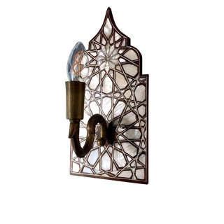 Mother of Pearl Inlaid Wall Sconce For Sale