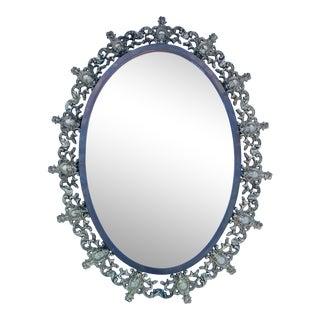 Oscar Bach Style Bronze Mirror For Sale