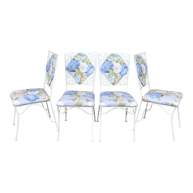 "Iron ""Garden Party"" Chairs - Set of 4 - Image 1 of 6"
