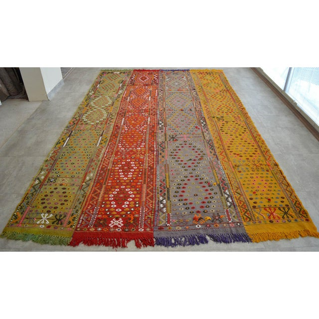 Islamic Antique Hand-Woven Turkish Rug Rare Fantastic Piece- 7′ X 11′2″ For Sale - Image 3 of 11