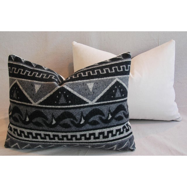 1950s Trading Camp Wool Blanket Pillows - A Pair - Image 11 of 11
