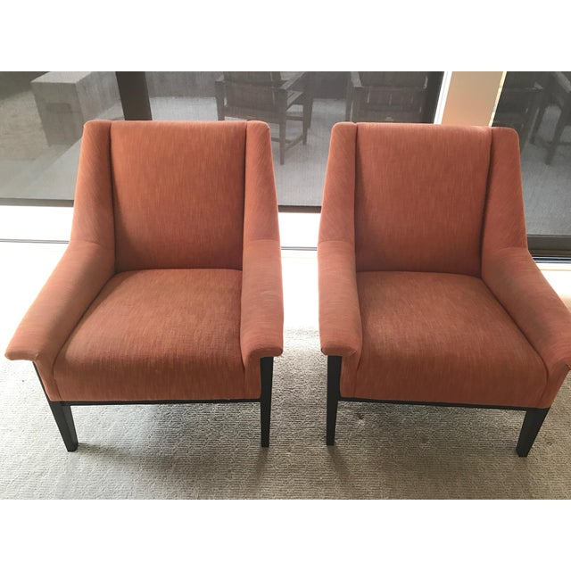 Kravet Windham Lounge Chairs - A Pair - Image 2 of 5