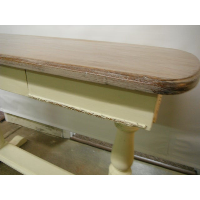 French Country Vintage French Writing Style Desk For Sale - Image 3 of 7