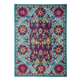 """Suzani Hand Knotted Area Rug - 6' 1"""" x 8' 4"""""""