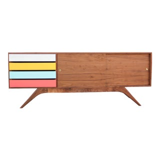 "Mid-Century Modern Antenna Base ""Bubblegum"" Credenza For Sale"