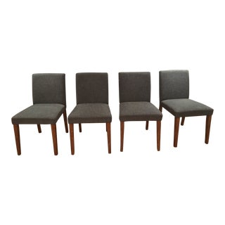 West Elm Tweed Porter Chairs - Set of 4 For Sale