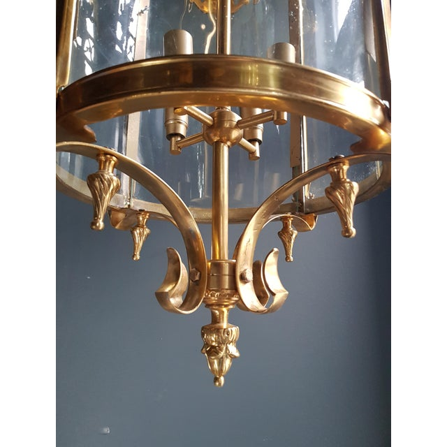 Imitation new production 6 available large cylindrical lantern in Louis XVI style brass glass pendant lighting Measures:...