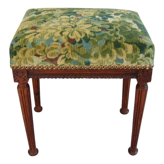 Italian Scalamandre Marly Fabric Bench - Image 1 of 11