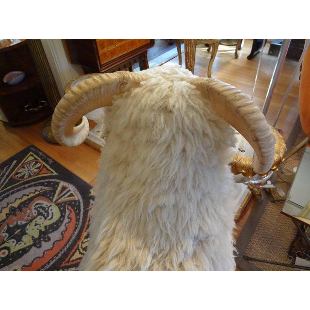 Textile Vintage Sheep Sculpture or Bench Inspired by Lalanne For Sale - Image 7 of 10