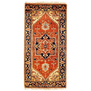 "Traditional Pasargad N Y Serapi Design Hand-Knotted Rug - 2'1"" X 4'1"" For Sale"