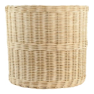 Boho Chic Wicker Planter Basket - Small