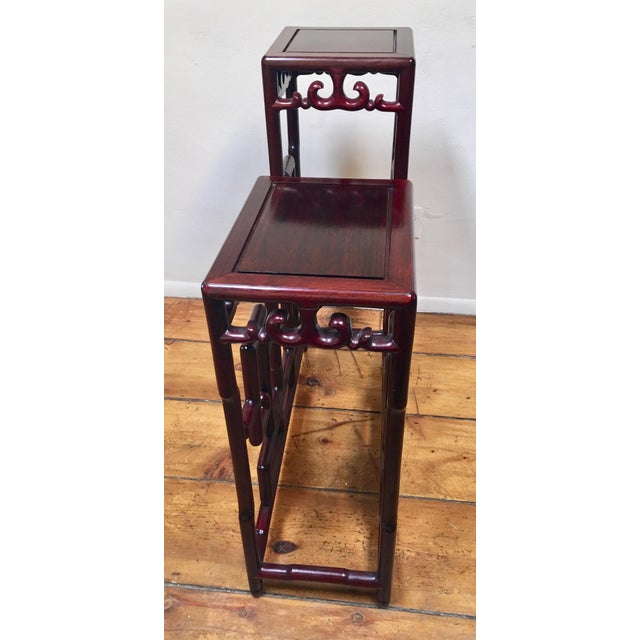 1940s Chinese Rosewood Double Pedestal Table For Sale - Image 4 of 8