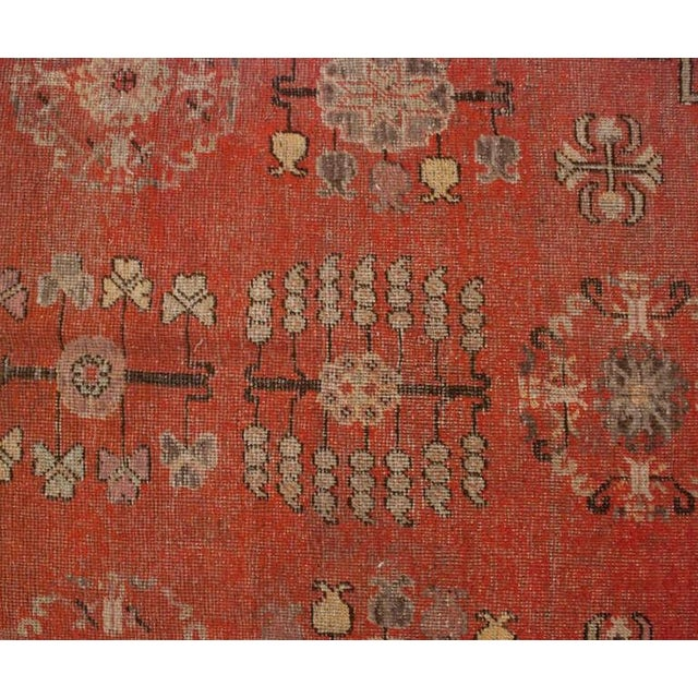 """Mid 19th Century Late 19th Century Khotan Rug - 76"""" x 156"""" For Sale - Image 5 of 6"""