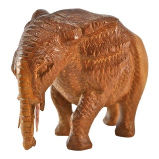 Hand Carved Wood Elephant