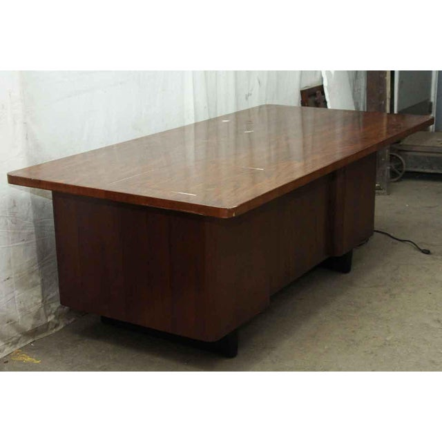Art Deco Walnut Veneer Executive Desk For Sale - Image 5 of 7