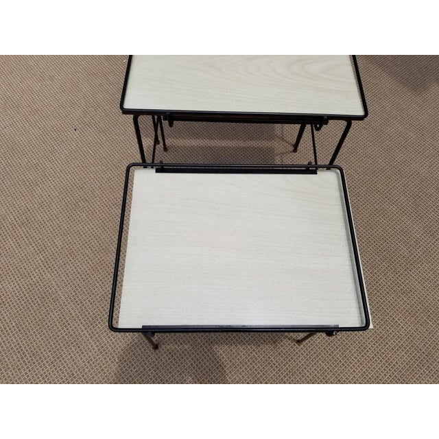 Mathieu Mategot Style Nesting Tables - Set of 3 For Sale - Image 9 of 12