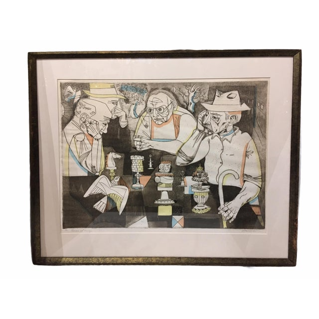 Vintage Mid-Century Signed and Numbered Color Serigraph by Irving Amen For Sale - Image 12 of 12