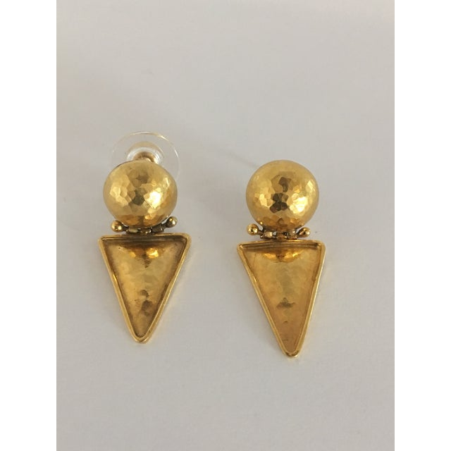 1970s Italian 18k Gold Earrings For Sale - Image 5 of 10