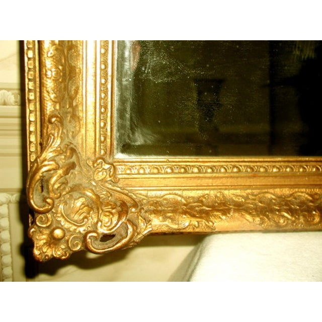 French 19th C. Carved Gilt Frame & Beveled Mirror - Image 5 of 10