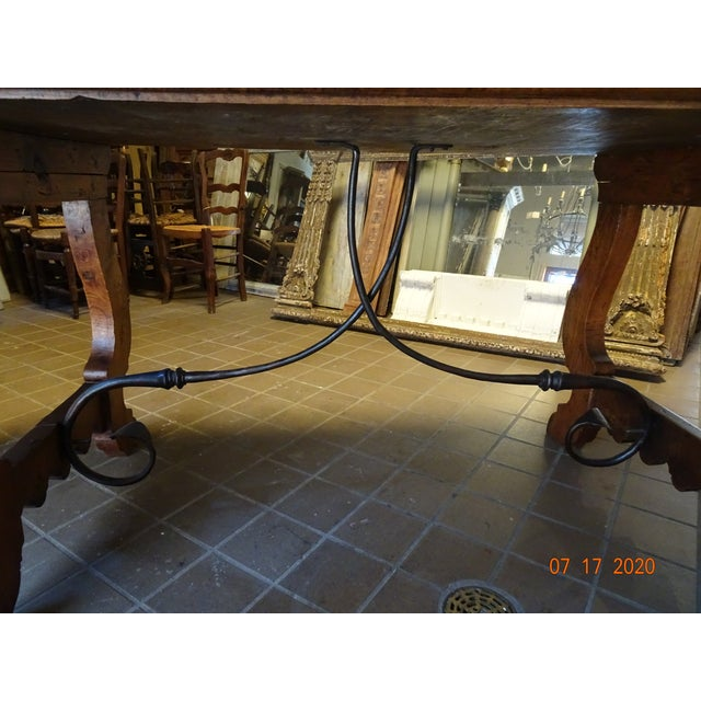 19th Century Spanish Walnut Dining Table For Sale - Image 11 of 13