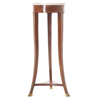 19th Century French Mahogany Marble-Top Table For Sale