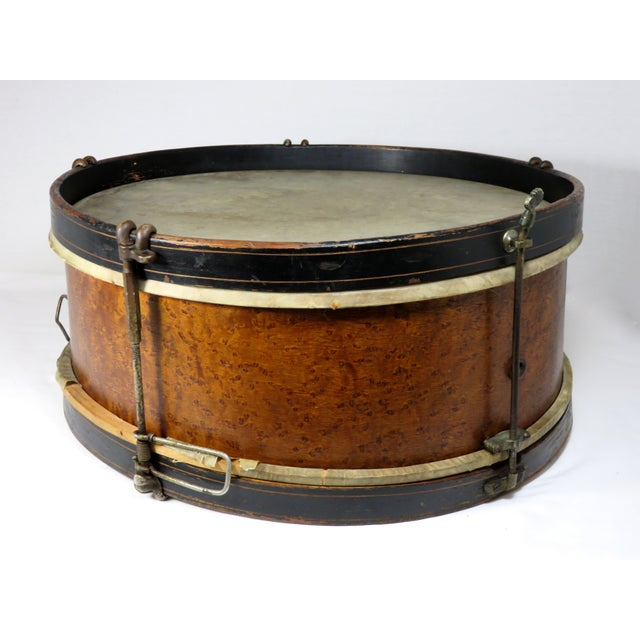 Americana Early 20th Century Antique Parade Marching Snare Drum For Sale - Image 3 of 13