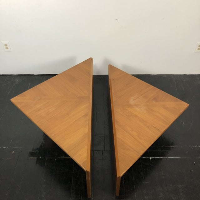 Danish Laurits M Larsen Teak Triangle Coffee Tables - a Pair For Sale - Image 10 of 13