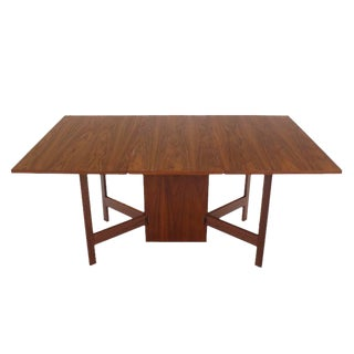 George Nelson Walnut Drop-Leaf Dining Table For Sale