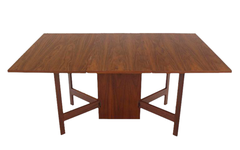 George Nelson Walnut Drop Leaf Dining Table   Image 1 Of 9