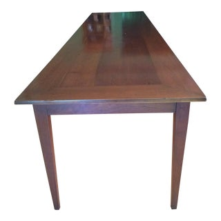 Custom Made Solid Cherry Dining Table For Sale