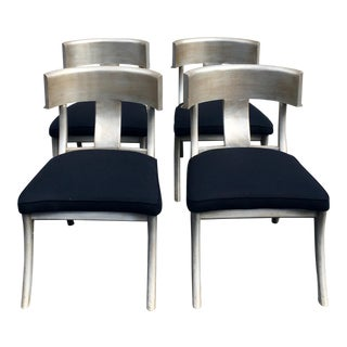 Silver Vermeil Klismos Chairs - Set of 4